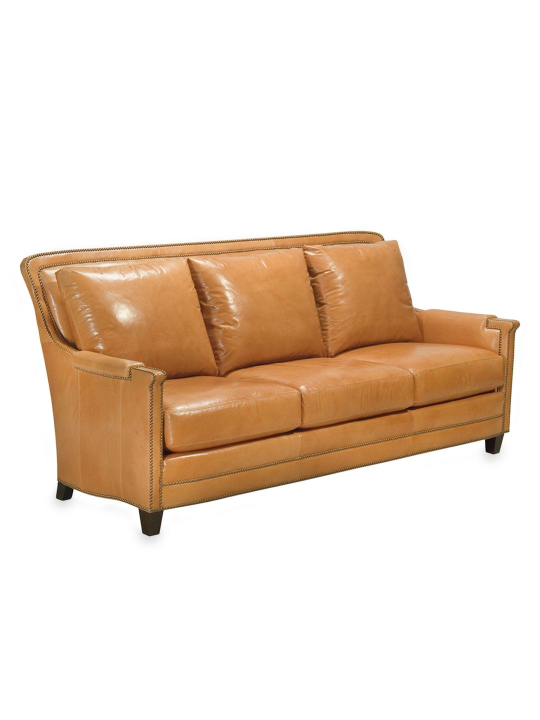Ferguson Copeland Redonda Tan Leather Sofa 1995
