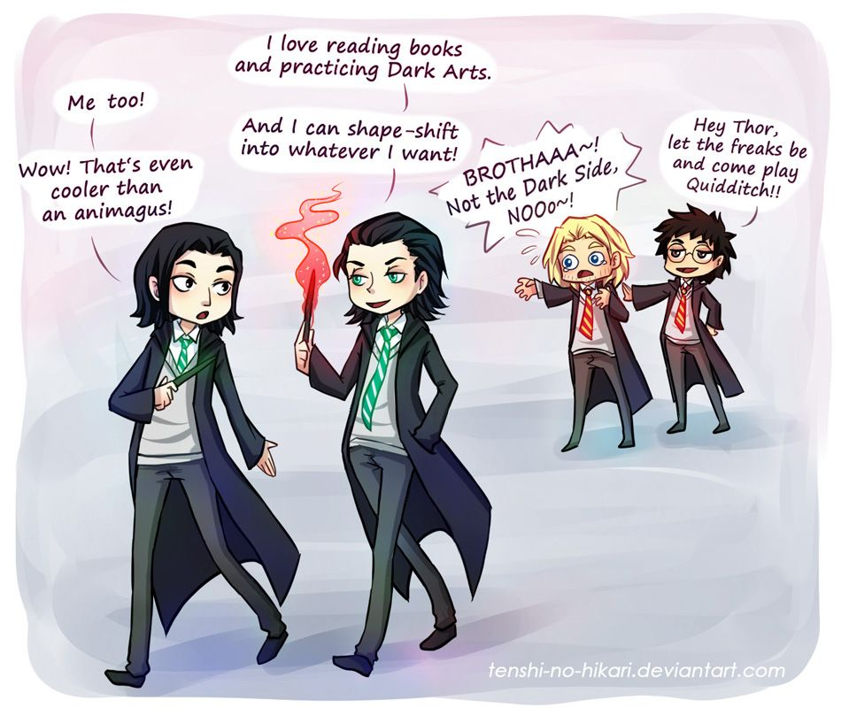 Snape and Loki get along fantastically  Thor is dismayed