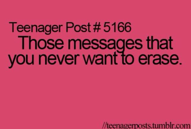 You end up having to erase them