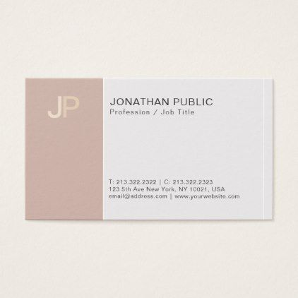 Modern Monogram Creative Elegant Beige Harmony Business Card   Architect  Gifts Architects Business Diy Unique Create Your Own