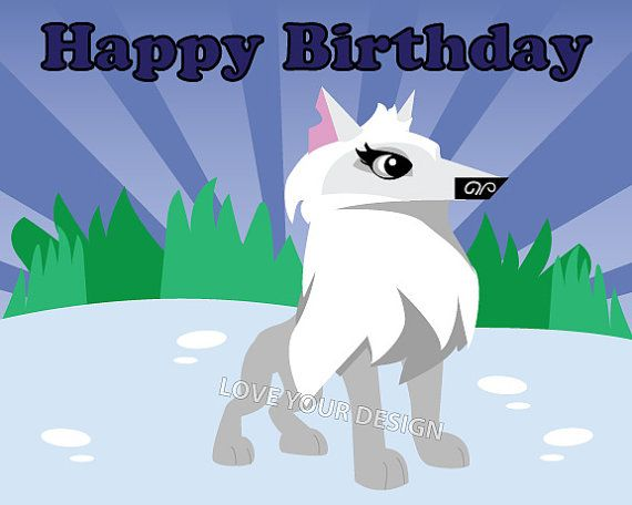 Animal Jam Arctic Wolf Pin the tail on the Wolf by ...