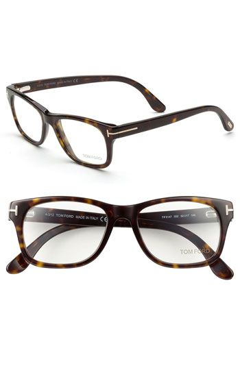 94f6f4c2403 Free shipping and returns on Tom Ford 52mm Eyeglasses at Nordstrom.com.  Metal T insets graze the hinges of studious Italian frames.