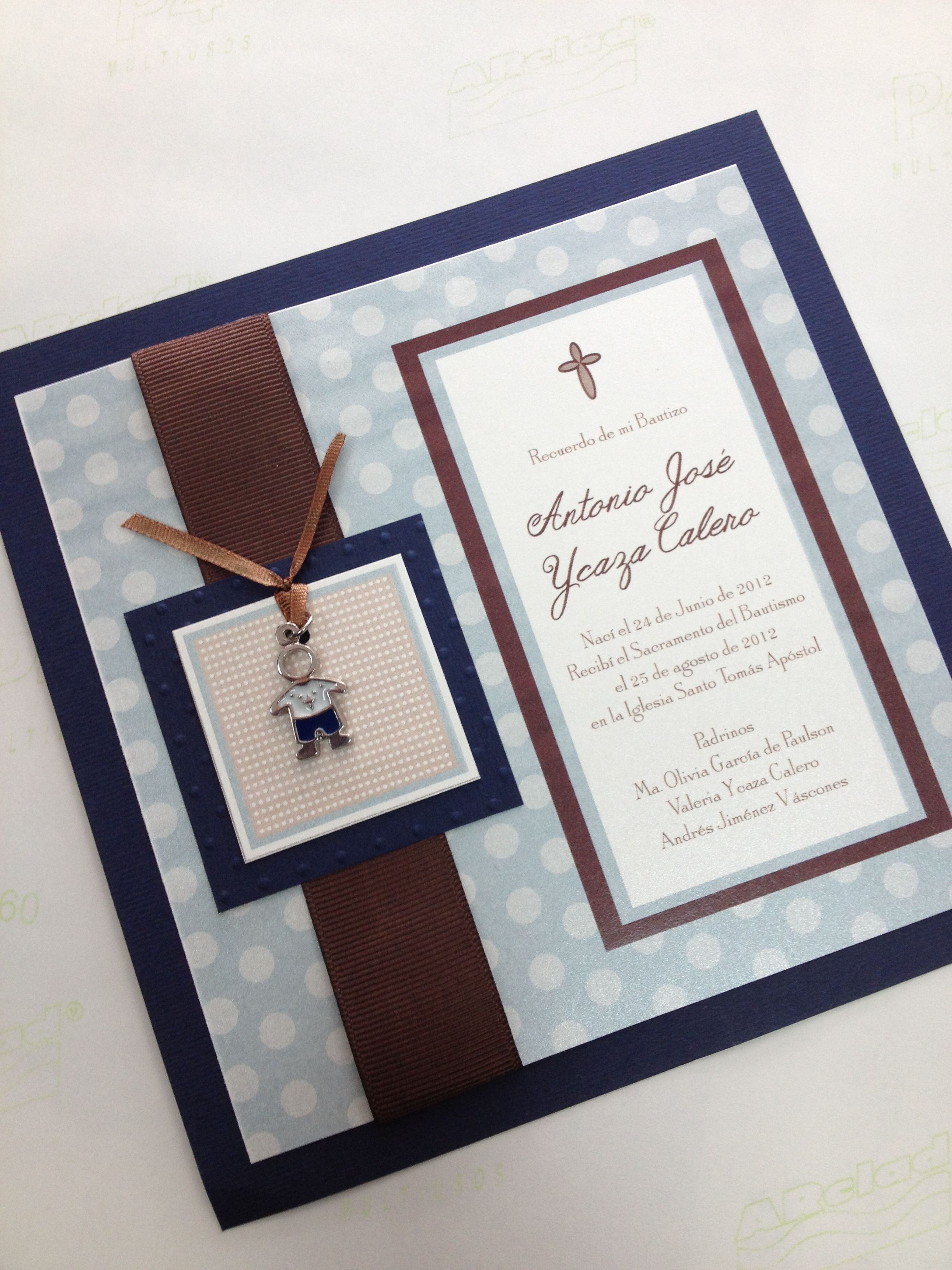 Customized Invitation Card Christening