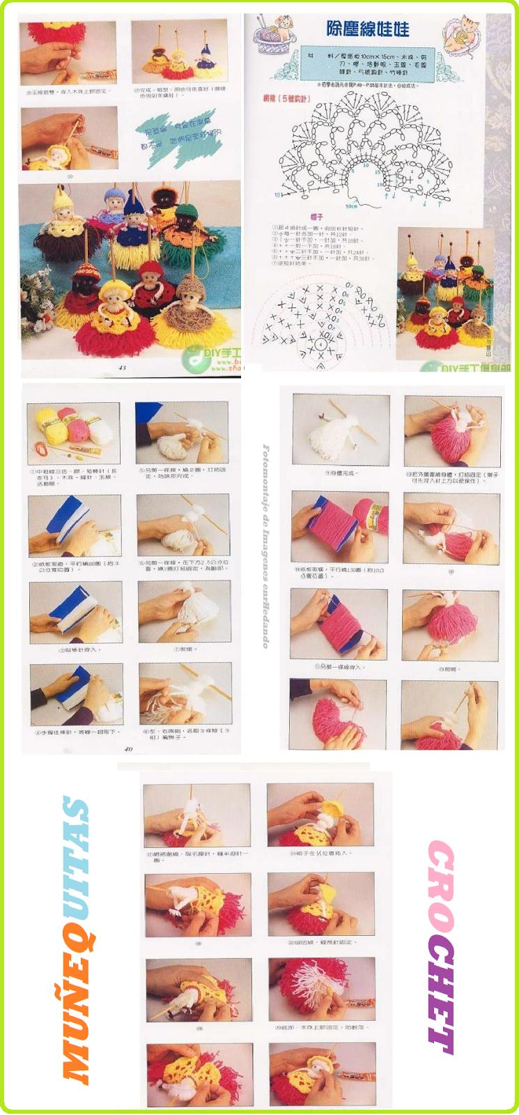 Muñequitas de Crochet Llaveros - Patrones Crochet | Patrones ...