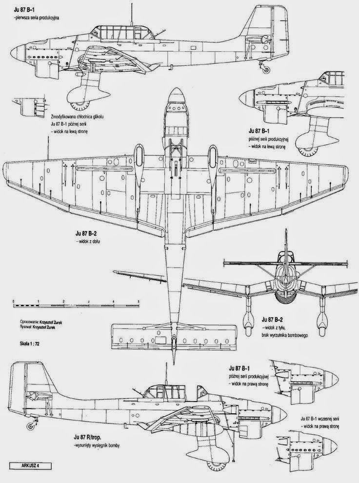 German Aircraft of WWII Ju 87 Stuka Part II Blueprint Pinterest - copy draw blueprint online free
