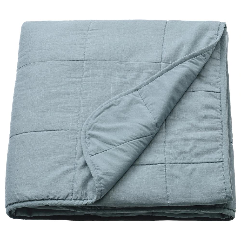 GULVED Bedspread, green, Queen/King IKEA in 2020 Bed