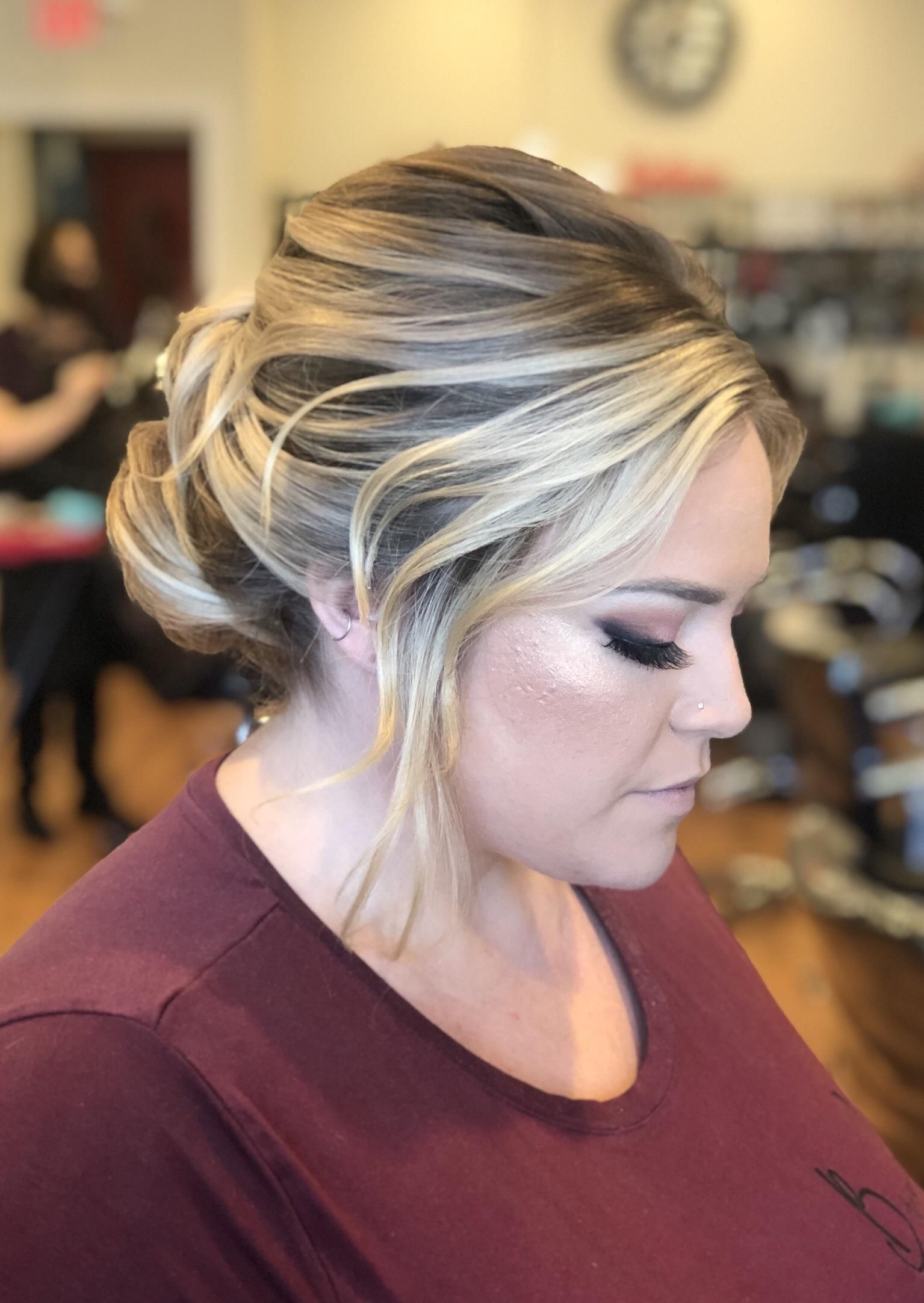 Special Occasions Up Dos 90 Head Turning And Eye Catching Youthful And Soft Updo Finished With Na Special Occasion Hairstyles Salon Software Hair Styles