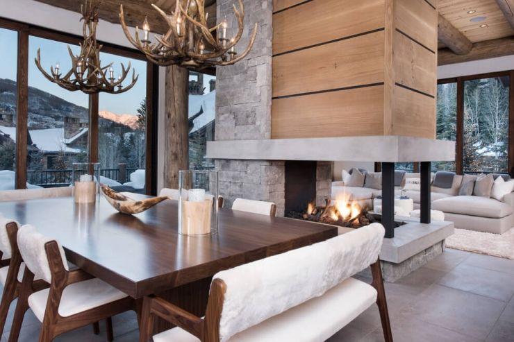 Romantische skihut in Colorado (INTERIOR JUNKIE) | Wohnzimmer