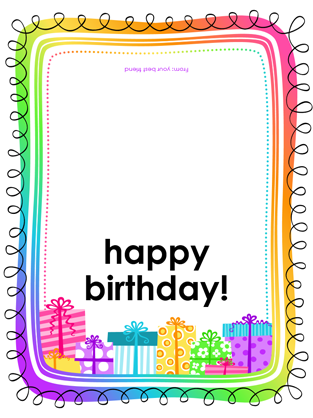 Birthday Card Gifts On White Background Half Fold Free Printable Birthday Cards Birthday Card Printable Birthday Cards