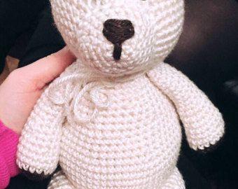 Crochet Teddy Bear by Hookidoo on Etsy