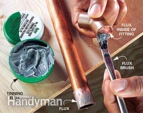 How to Solder Copper Pipe Joints   pluming   Soldering