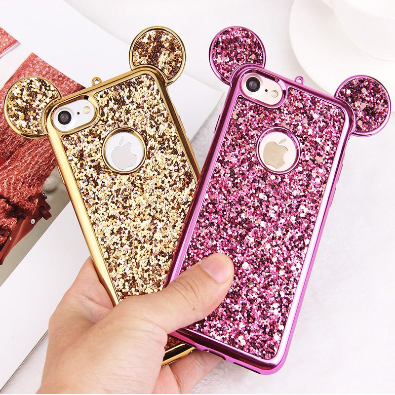 Luxury 3D Mickey Mouse Case for iPhone 6 6S 7 Plus 5 5S 5SE ...