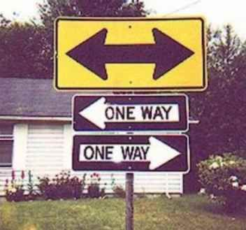 One Way, Both Ways? | Funny Sign Pictures www.funnysigns.net