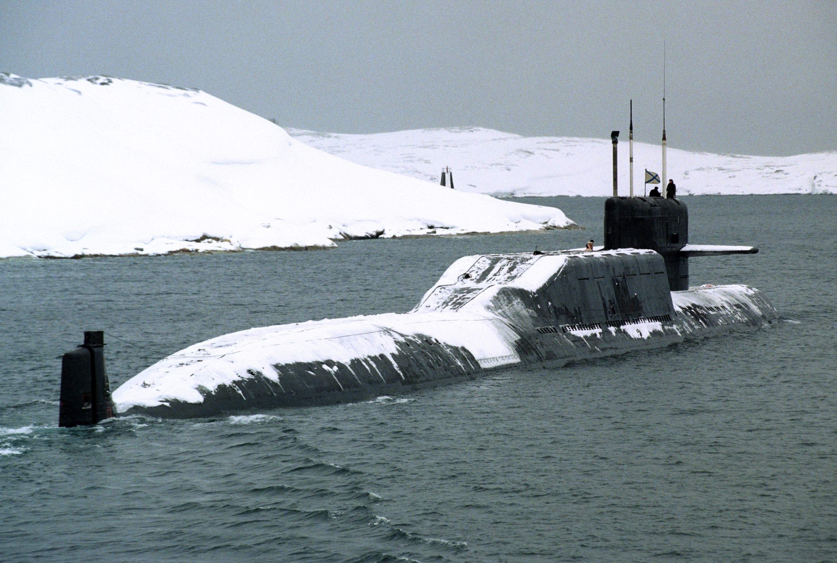 Submarino nuclear lanzamisiles Delta IV de la Federación Rusa.
