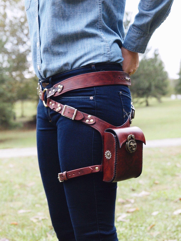 Utility Belt Thigh Bag Steampunk Hip Bag Utility Belt Bag Hip Pouch Waist Bag Holster Bag Hip Bag Bum Bag Burning Man Bag Belt Bag