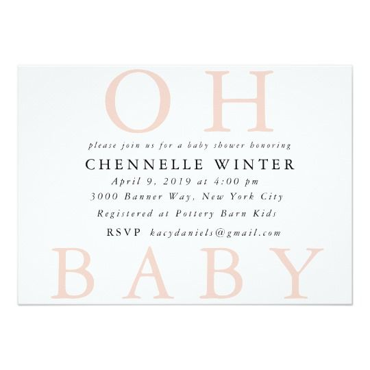 Oh Baby Baby Shower Invitation Pinterest Baby Invitations