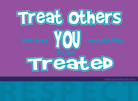 Treat Others As You Want To Be Treated Coloring Page