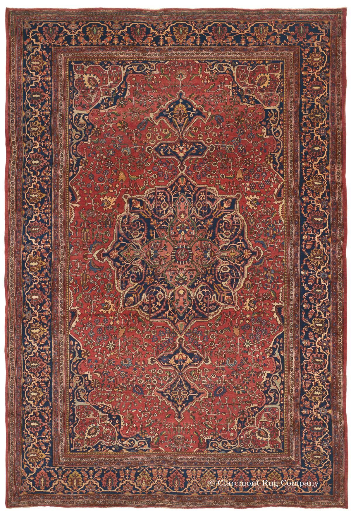 Ferahan Sarouk 8ft 9in X 12ft 9in Late 19th Century Unblemished Virtually F Rugs On Carpet Rugs Persian Carpet