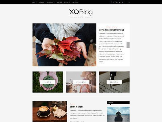 XO - Personal Blog WordPress Theme - Responsive WordPress Blog Theme ...