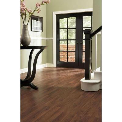 This Laminate Flooring With White Trim Dark Espresso Wood Accents