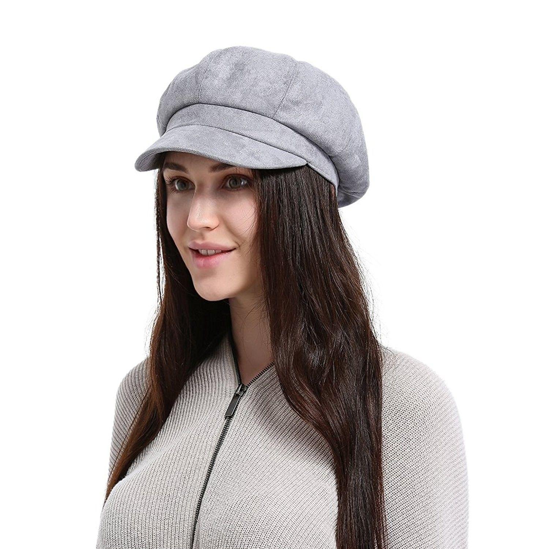 La Vogue Newsboy Cabbie Beret Cap Women Beret Visor Bill Hat