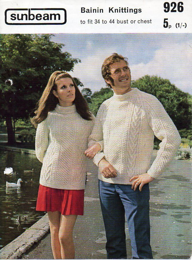 Womens Aran sweater mens Aran Sweater Knitting pattern PDF Download ladies Aran…