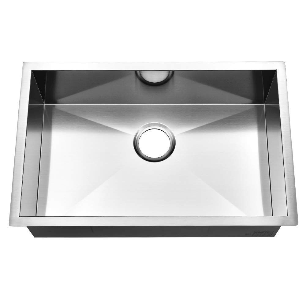 Ufaucet Commercial 28 Inch 16 Gauge Undermount Single Bowl