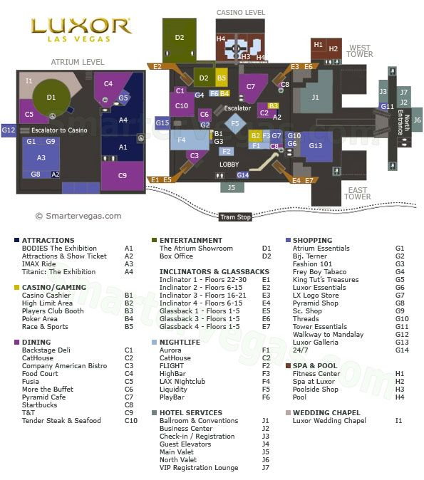 Luxor Casino Property Map Floor Plans Las Vegas Las vegas