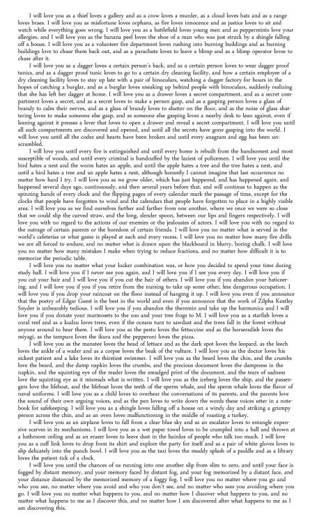 saddest love letter