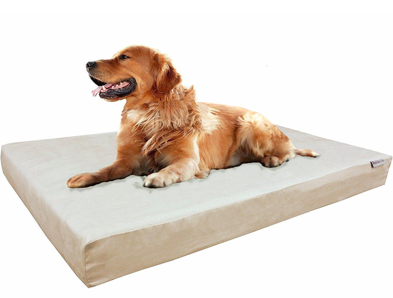 Orthopedic XLarge Waterproof Memory Foam Pad Dog Bed with
