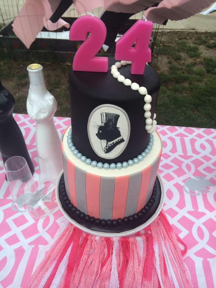 Cat themed birthday party cake see more party ideas at