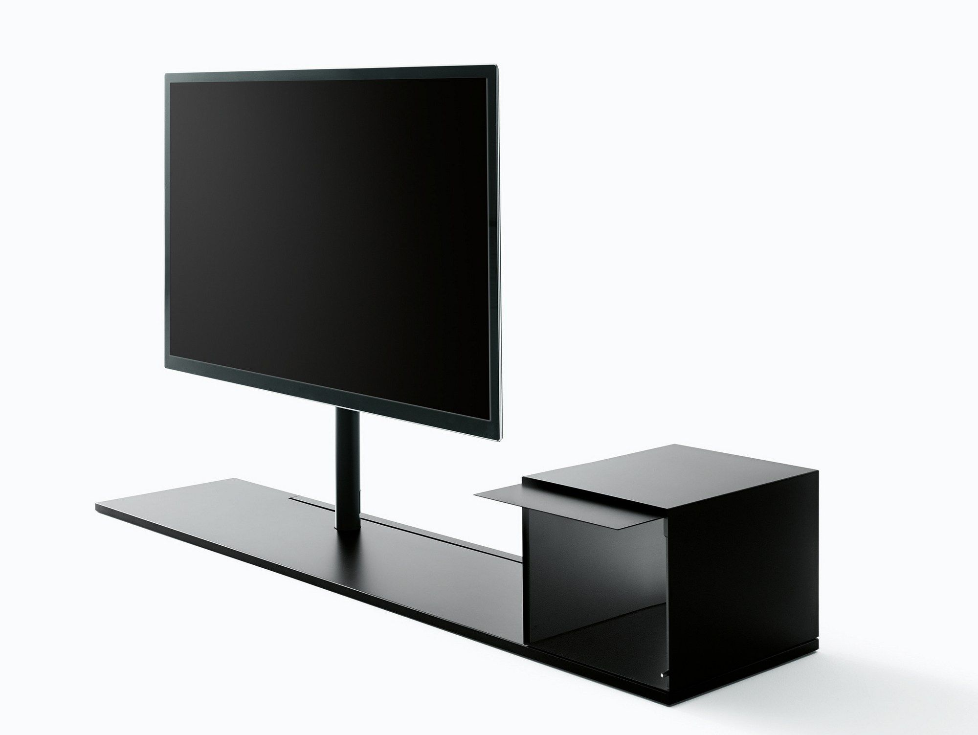 Meuble Tv Pivotant En M Tal Sail 302 By Desalto Design Caronni  # Meuble Tv Pivotant Ikea