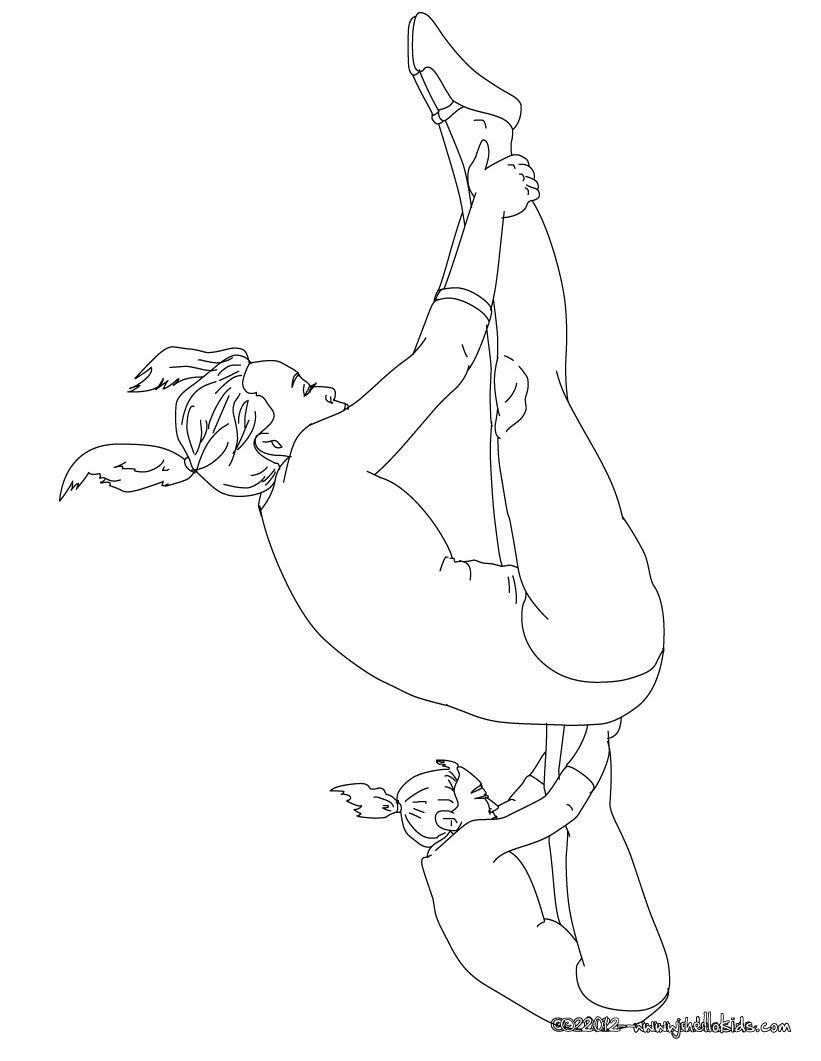 TRAMPOLINE gymnastics coloring page | Birthday Party - Gymnastics ...