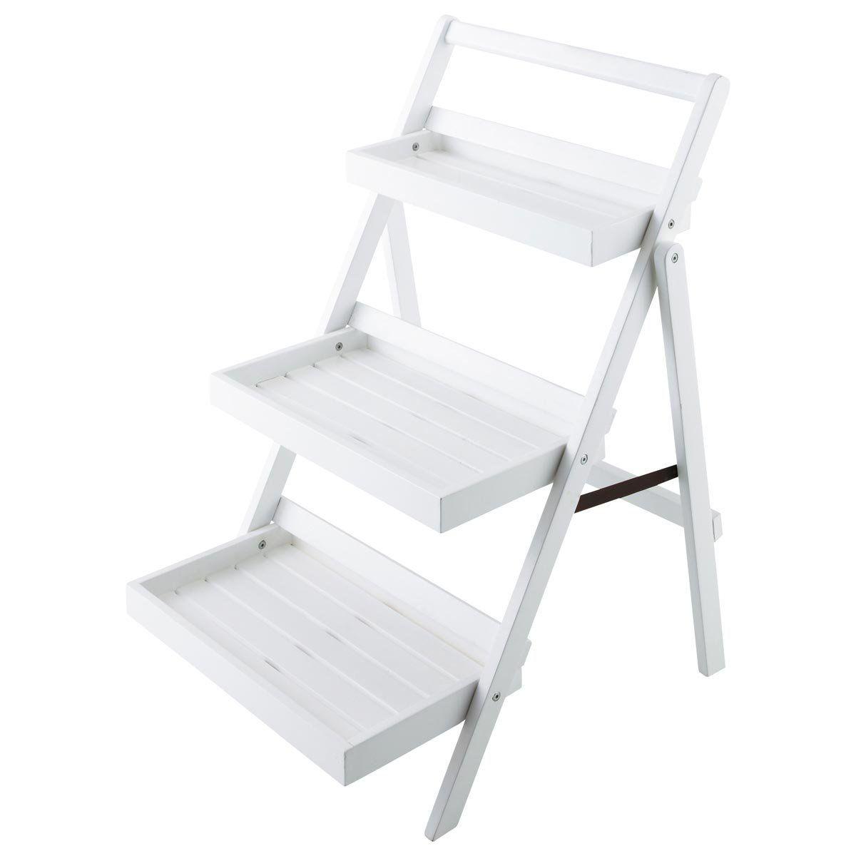 Estantería-escalera para jardín blanca ETRETAT 48,30 | HOME ...