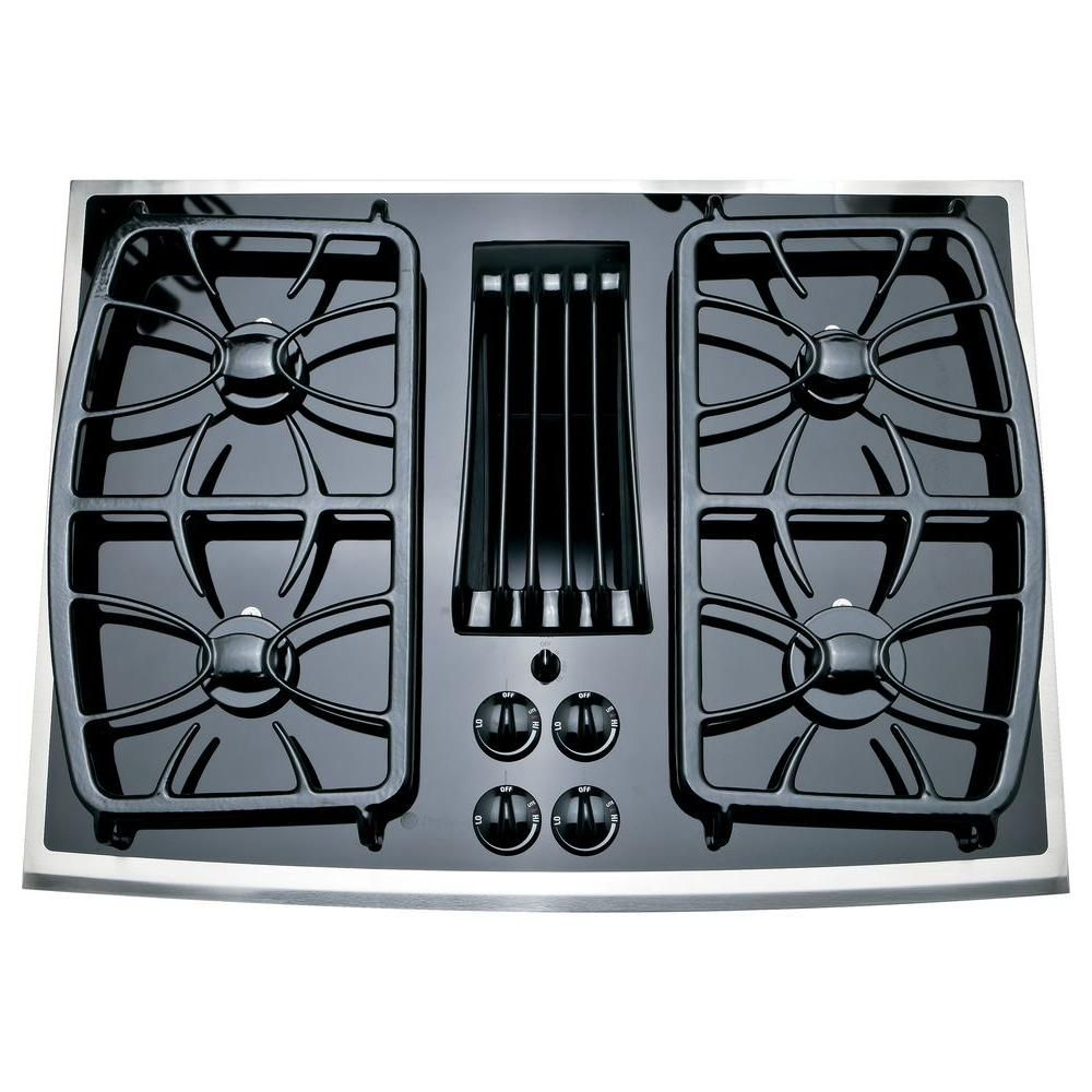 Ge Profile 30 In Gas On Glass Gas Cooktop In Stainless Steel With