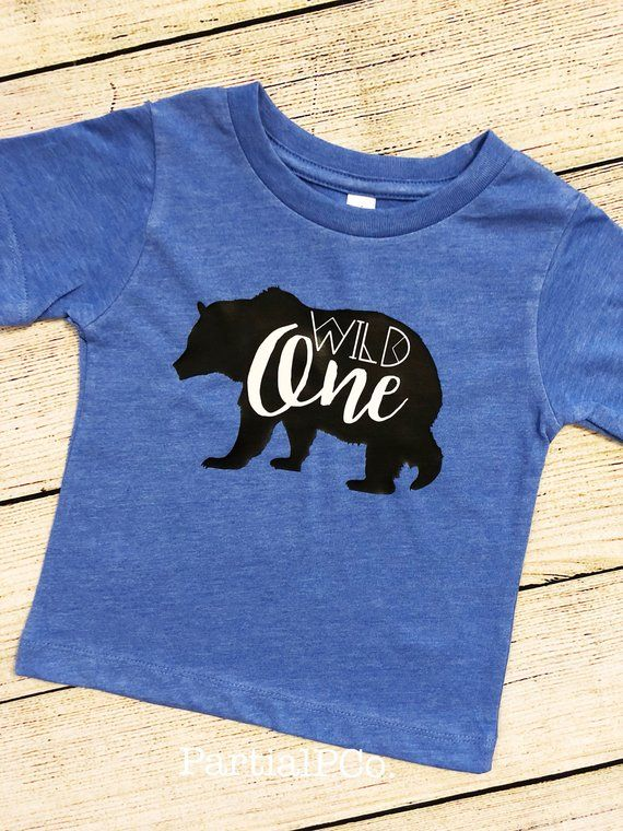 24a5a38ec Wild One Bear First Birthday Shirt | smash cake | boy | Baby Bear | Tribal  | Personalized