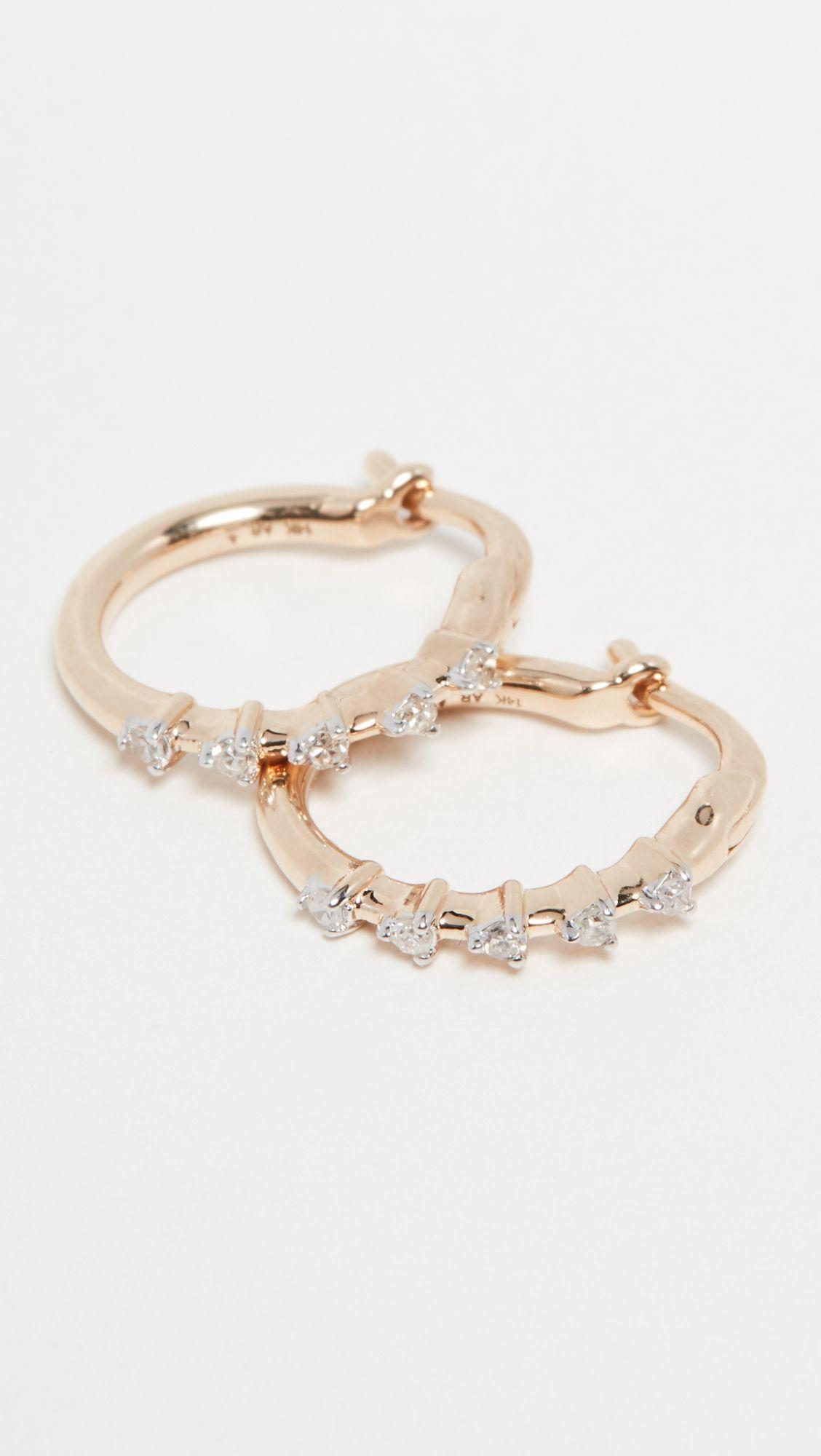 eef288632 Adina Reyter 14k Diamond Huggie Earrings in 2019 | Products ...