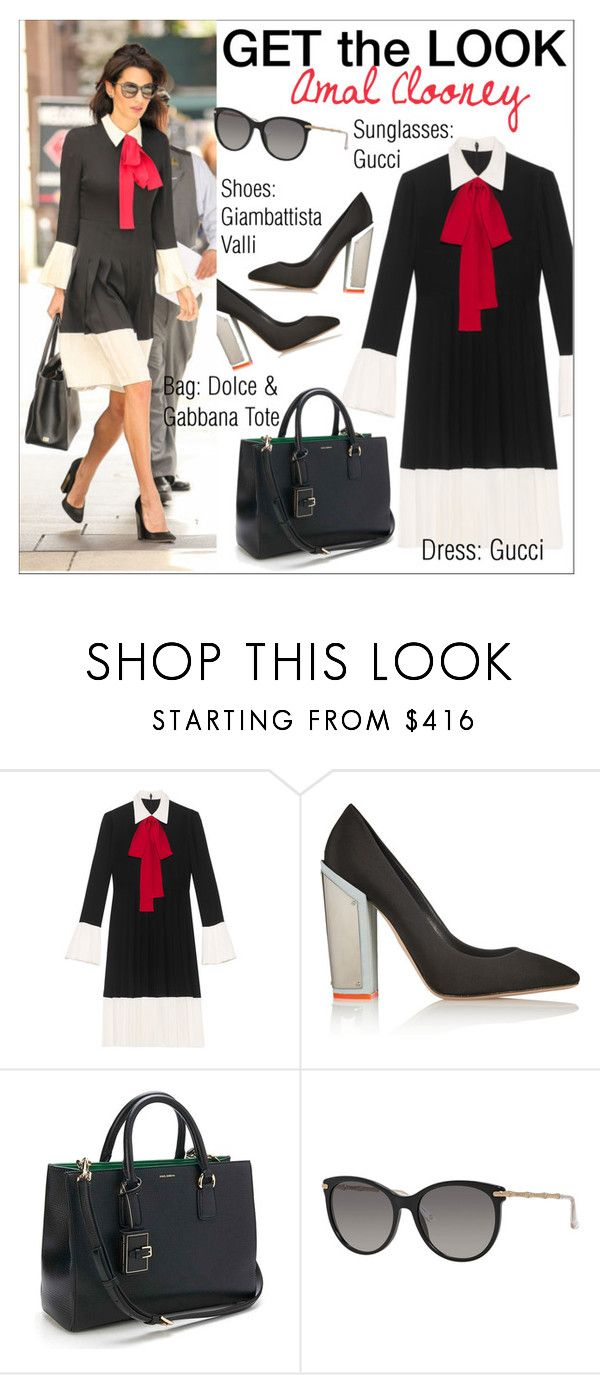 """""""Get the Look: Amal Clooney in NYC"""" by ms-mandarinka ❤ liked on Polyvore featuring Gucci, Giambattista Valli and Dolce&Gabbana"""