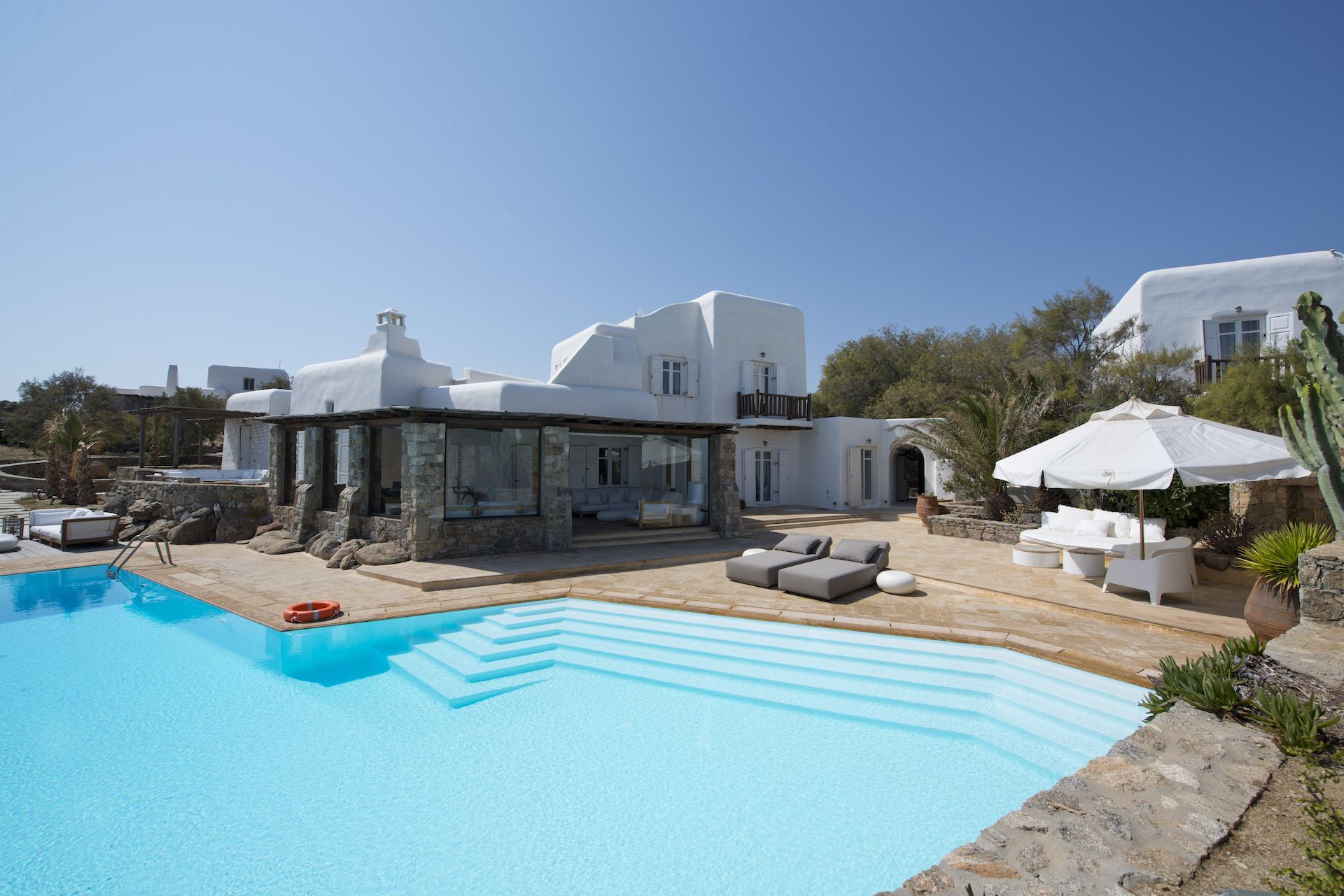Enjoying one of the most panoramic locations on Mykonos