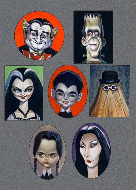 The Munster family and The Addams Family