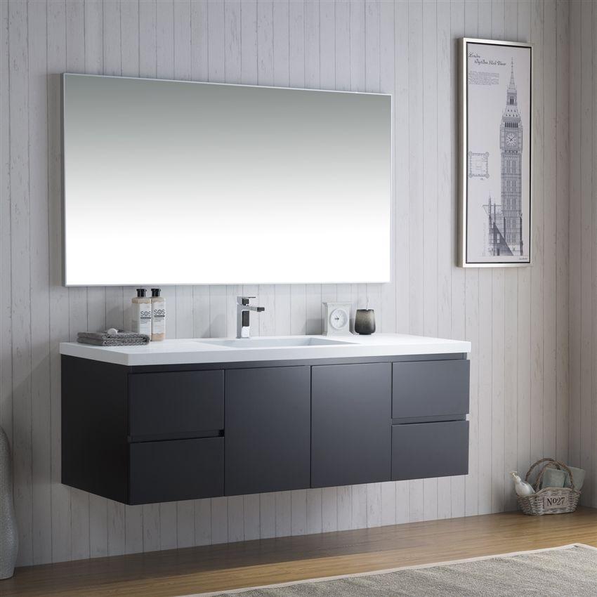 Inolav Adams 60 Inch Bathroom Counter With Infinity Style Sink