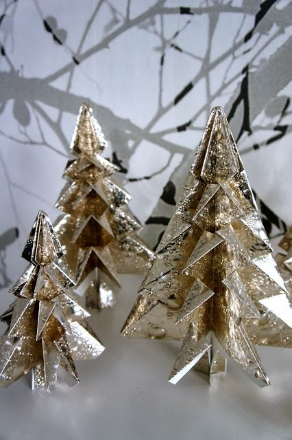 Ideas from the forest: Stunning folded Christmas trees XL