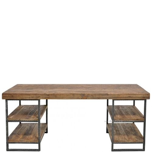Style de pays d 39 am rique loft fer nostalgique table en for Meuble bureau fer
