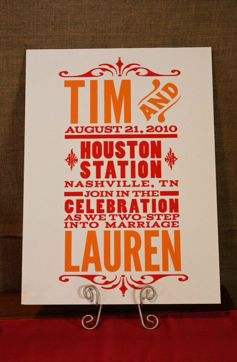 Hatch Show Print Invite Cute Wedding Ideas