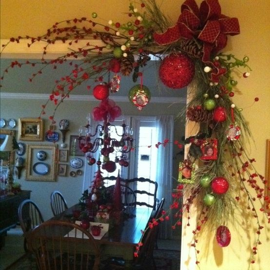 christmas corner doorway decoration google search