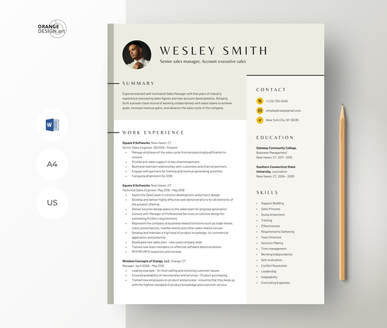 Resume Template Word 2020 Professional Cv Template With Etsy Resume Template Word Cv Template Professional Creative Resume Templates