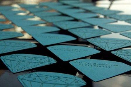 Diamond shaped die cut business card a parade of jewelry display diamond shaped die cut business card colourmoves