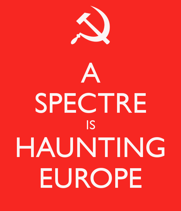 'A SPECTRE IS HAUNTING EUROPE' Poster