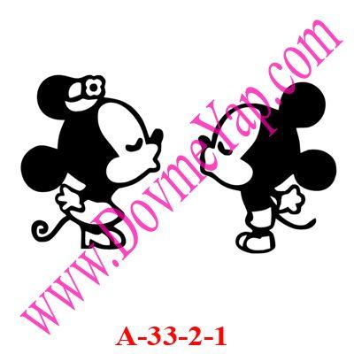 Miki Maus - Mickey mause Geçici Dövme Şablon Örneği Model No: A-33-2-1