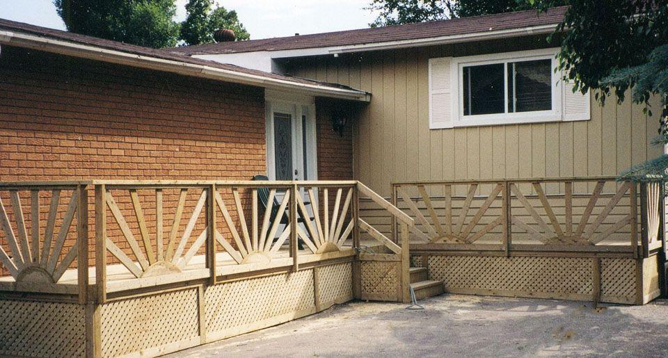 Best Fancy Sunburst Deck Railing For Decks Page With Agreeable 400 x 300